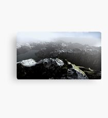 3D Landscape : Sky Fly - The Lake Canvas Print