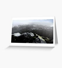 3D Landscape : Sky Fly - The Lake Greeting Card