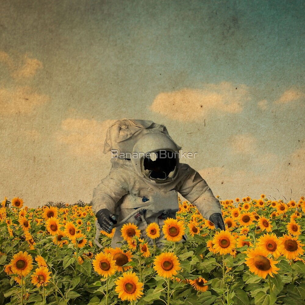 Quot Astronaut In A Sunflower S Field Quot By Bananenbunker