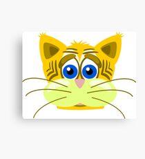 Animal cartoon sad tiger cat Canvas Print