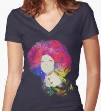 Diana Ross Women's Fitted V-Neck T-Shirt