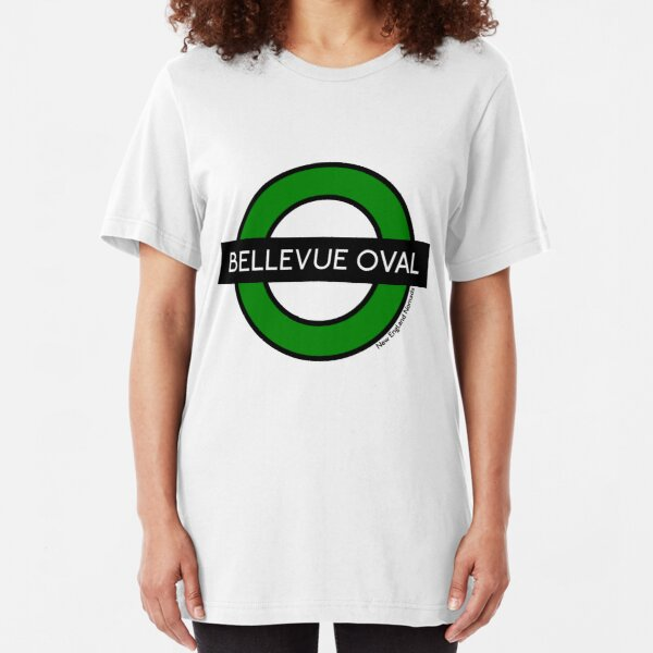 Bellevue Oval Tube Station (for white shirts) Slim Fit T-Shirt