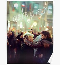 queer as folk - Brian & Justin Poster
