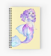 Curvy Mermaid - Betta  Spiral Notebook