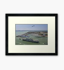 HMS Illustrious final return Framed Print