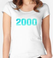 2000 Watercolor Women's Fitted Scoop T-Shirt
