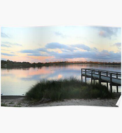 At Sunset - Bibra Lake, Western Australia Poster