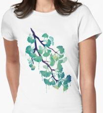 O Ginkgo (in Green) Women's Fitted T-Shirt