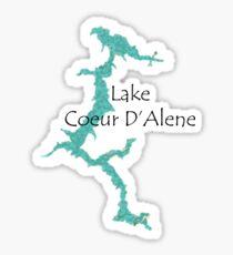Pegatina Lake Coeur D'Alane, Idaho