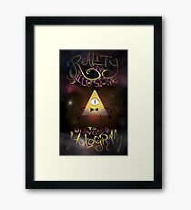 Reality is an Illusion - Bill Cipher Framed Print