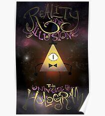 Die Realität ist eine Illusion - Bill Cipher Poster