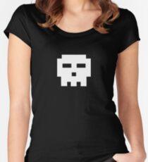 Scott Pilgrim - Pixel Skull Women's Fitted Scoop T-Shirt