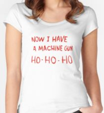 Die Hard - Now I Have A Machine Gun Ho-Ho-Ho Women's Fitted Scoop T-Shirt