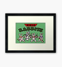 ninja rabbits for a geek nerd fun guy who like tmnt turtle Framed Print