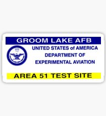 Area 51 Parking Pass Sticker