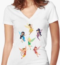 Fairies Women's Fitted V-Neck T-Shirt