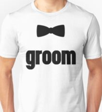 Groom Bow Tie Wedding Quote T-Shirt