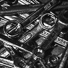 Tool Orgy - Monochrome (Studio pouches, laptop skin/sleeve) by Matti Ollikainen