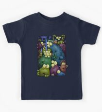 A crowd of chest dwelling aliens ... Kids Tee