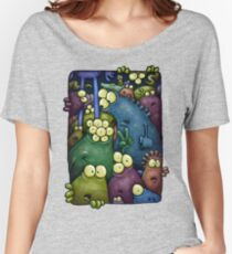 A crowd of chest dwelling aliens ... Women's Relaxed Fit T-Shirt