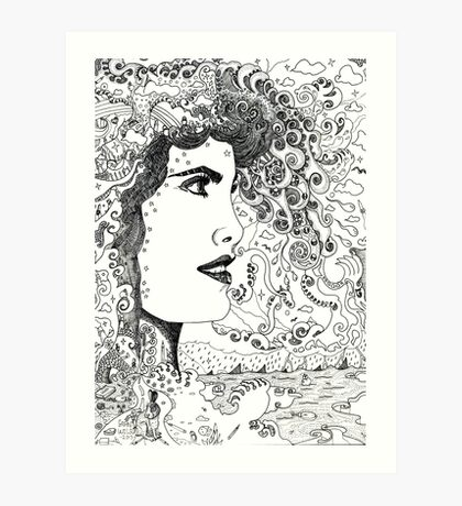 Vision On [Original Pen drawing] Art Print