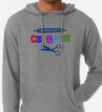 Community Collage Art College Pun Lightweight Hoodie
