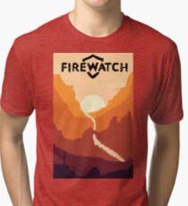 Firewatch horizion with logo Tri-blend T-Shirt