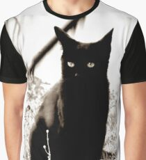 Little Black Cat Graphic T-Shirt