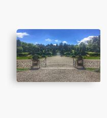 Public gardens in Varese, Italy Canvas Print