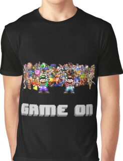 Game On! Video Game Crowd with Mario and Luigi Graphic T-Shirt