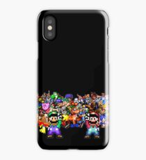 Game On! Video Game Crowd with Mario and Luigi iPhone Case/Skin