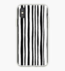 Into the Woods Stripes black iPhone-Hülle & Cover