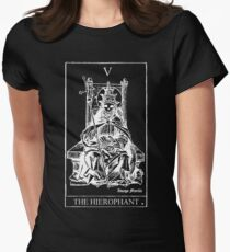 The Hierophant Tarot V Women's Fitted T-Shirt