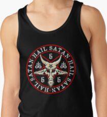 Hail Satan Baphomet in Occult Inverted Pentagram Tank Top