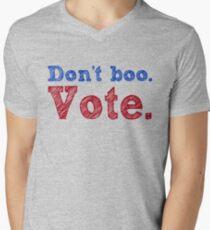 Don't boo. Vote.  Men's V-Neck T-Shirt