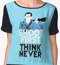 Shoot First, Think Never Women's Chiffon Top