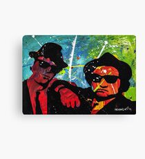 Blues Brother in full color Canvas Print