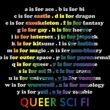 Queer Sci Fi - A is For Ace - Black by queerscifi