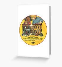 Fisher Price Sesame Street Playhouse Ad Greeting Card