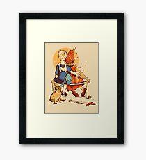 Rockwell Time Framed Print