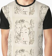 Japanese Bamboo Forest Graphic T-Shirt