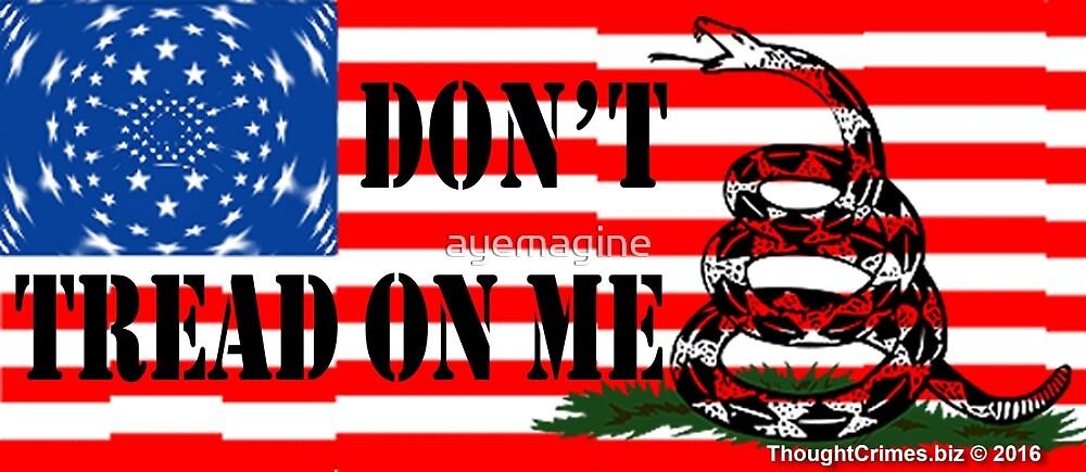 Gadsden Flag on Stars & Stripes by ayemagine
