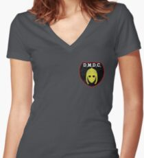 DMDC Detectorists Badge - Distressed Women's Fitted V-Neck T-Shirt