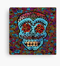 'Sweet Sugar Skull #3' Canvas Print