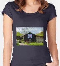 Kentucky Barn Quilt - Carpenters Wheel Women's Fitted Scoop T-Shirt