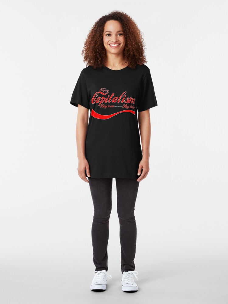 Alternate view of Capitalism - 'Buy Now, Pay Later' Slim Fit T-Shirt