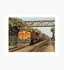 BNSF # 7644 at Fullerton Art Print