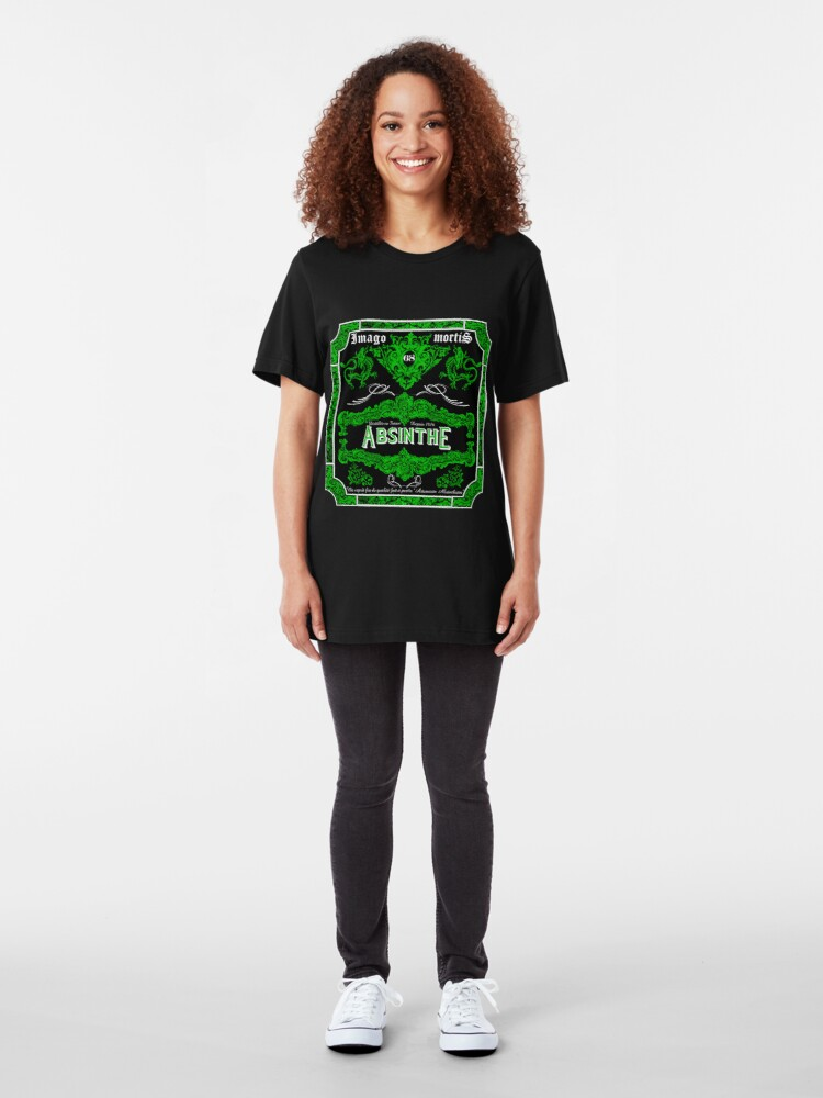 Alternate view of Imago Mortis Absinthe Slim Fit T-Shirt