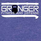 Granger Fitness and Defense White with Black KB by John Granger