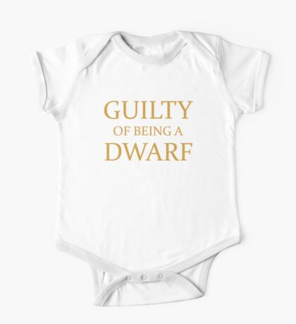 Guilty of Being a Dwarf Kids Clothes